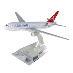 Avião Comercial Turkish Airlines Boeing 777 Metal Miniatura