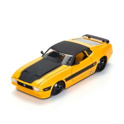 Miniatura Ford Mustang Mach1 1973 Amarelo 1:24 Jada Toys