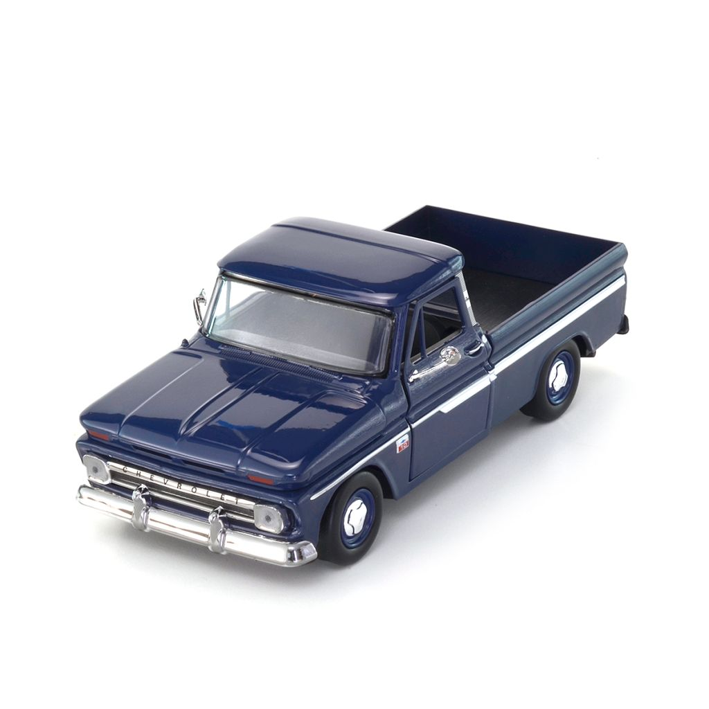 Miniatura Chevy C10 Fleetside Pick Up 1966 Azul 1:24 Motormax