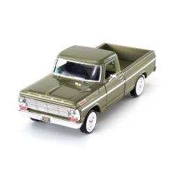 Miniatura Ford F 100 Pick Up 1969 Verde 1:24 Motormax