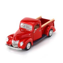 Miniatura Ford Pick Up 1940 Vermelha 1:24 Motormax