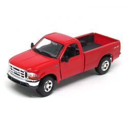 Miniatura Pickup Ford F350 Super Duty Vermelha 1999 1:27