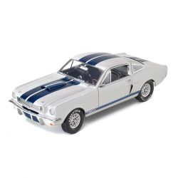 Miniatura Shelby GT 350 1966 Branco Metálico 1:18 Shelby Collectibles