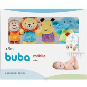 Móbile para Berço Musical e Giratório Bebê Safari Buba