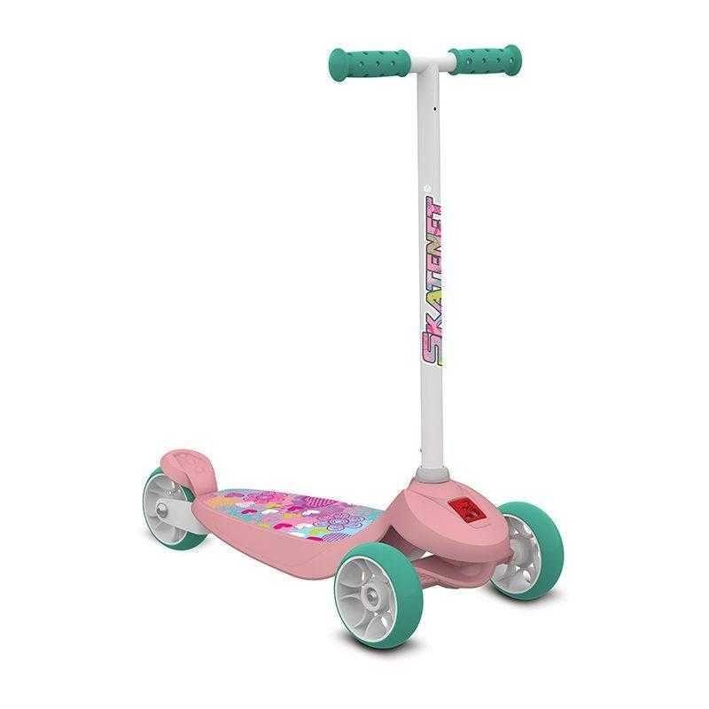 Patinete Skatenet Kid Flower com Freio 3 Rodas - Bandeirante