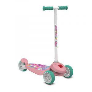 Patinete Skatenet Kid Flower com Freio 3 Rodas Bandeirante