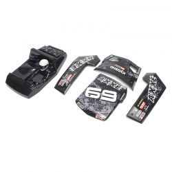 Peça Kyosho Ez025Bk Outer Panel Set Black Axxe