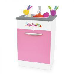 Pia Super Clean com Acessórios em Madeira Rosa - Junges