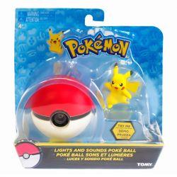 Pokébola com Luz e Som Pikachu Pokémon - Sunny