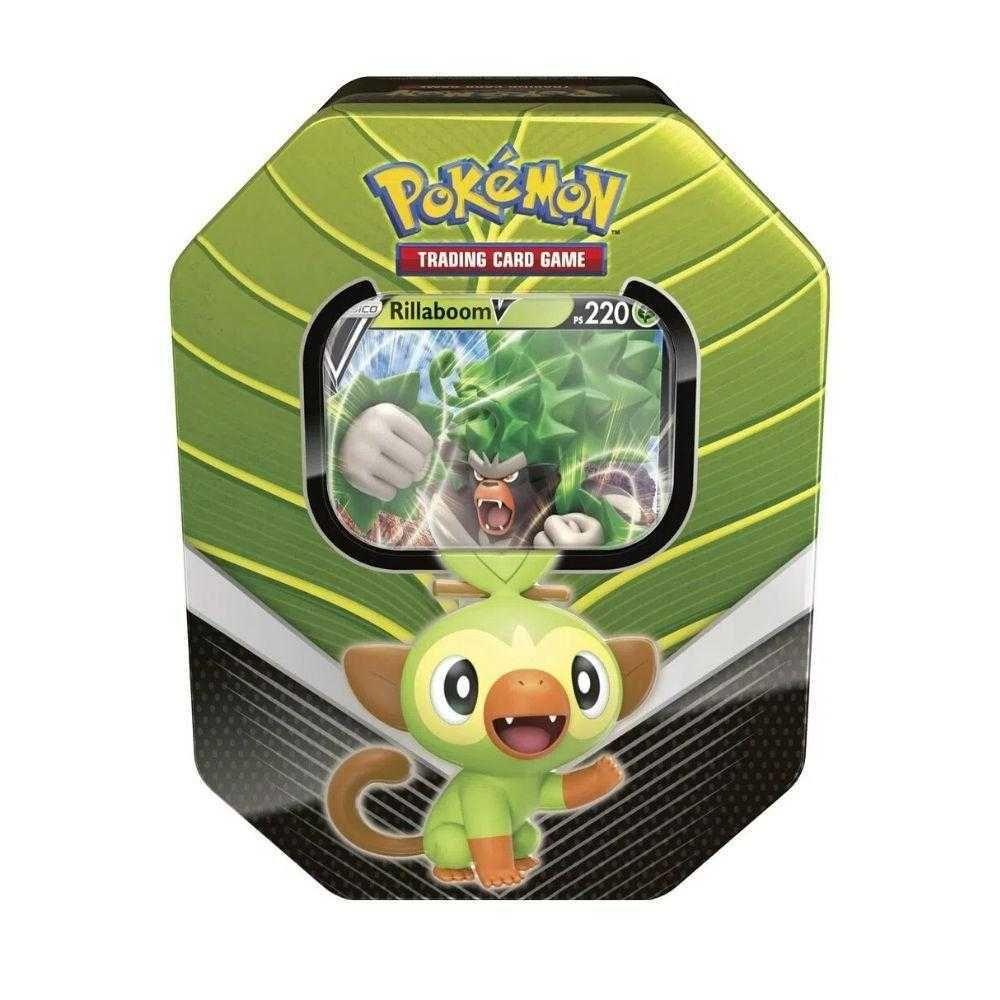 Pokémon Lata Colecionável Coleção Galar Básico Rillaboom V Copag