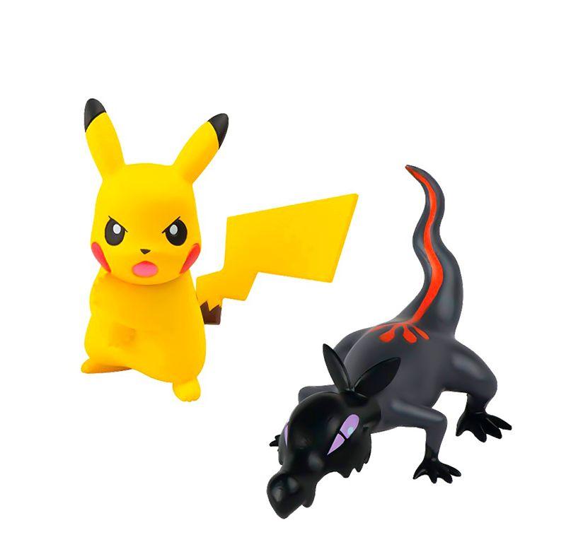 Pokémon Mini Figuras Salandit Vs Pikachu - Sunny