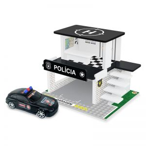 Posto Policial em Madeira Hot Wheels Junges