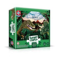 Quebra Cabeça 200 Peças Dinossauros Estrela