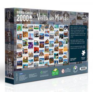 Quebra Cabeça 2000 Peças Volta Ao Mundo Toyster