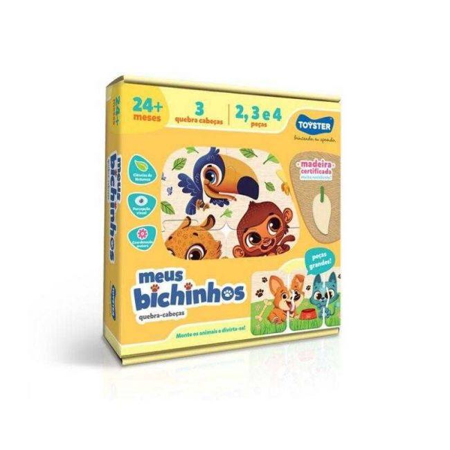 Quebra Cabeça Infantil em Madeira Meus Animais Toyster