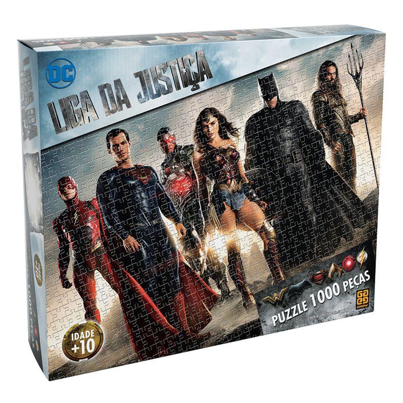 Quebra Cabeça Puzzle 1000 Peças Liga Da Justiça Grow