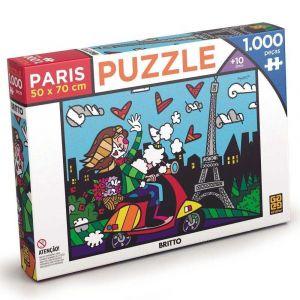 Quebra Cabeça Puzzle 1000 Peças Romero Britto Paris Grow