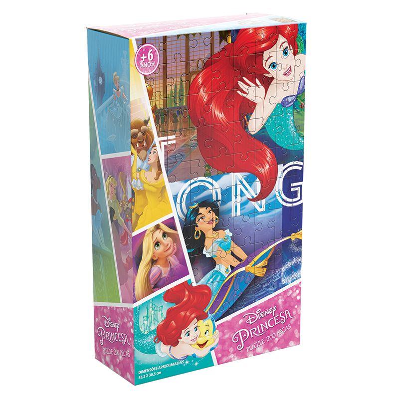 Quebra Cabeça Puzzle 200 Peças Princesas Grow
