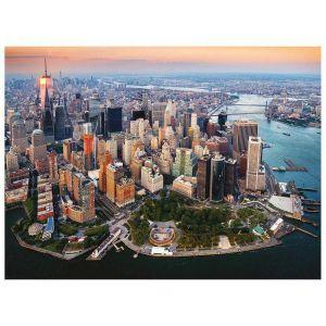 Quebra Cabeça Puzzle 2x 500 Peças Luzes de Hong Kong e New York Grow