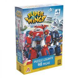 Quebra Cabeça Puzzle 48 Peças Gigante Super Wings Grow
