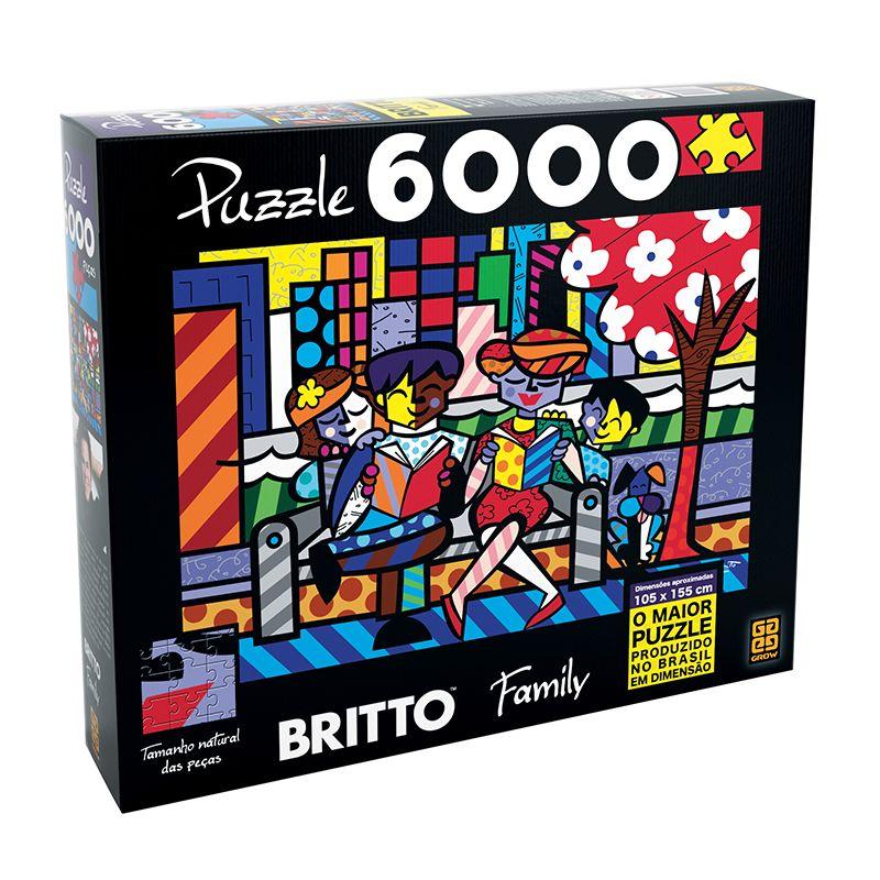 Quebra Cabeça Puzzle 6000 Peças Romero Britto Family Grow