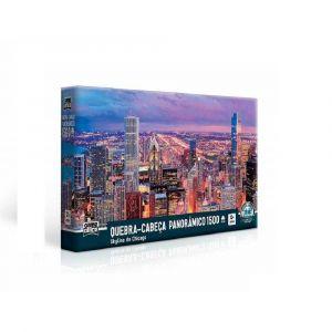 Quebra Cabeça Puzzle Panorâmico 1500 Peças Skyline de Chicago Toyster