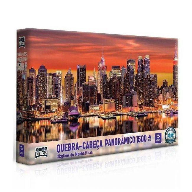 Quebra Cabeça Puzzle Panorâmico 1500 Peças Skyline de Manhattan Toyster