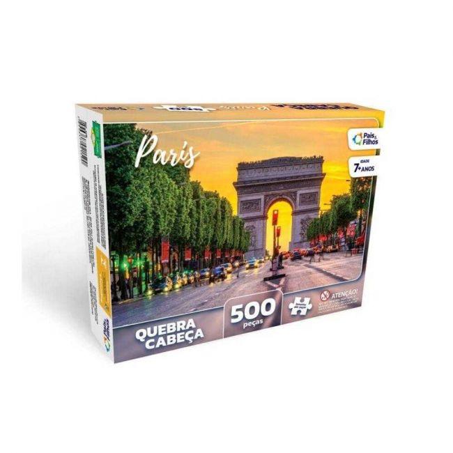 Quebra Cabeça Puzzle Paris 500 Peças Premium Pais & Filhos