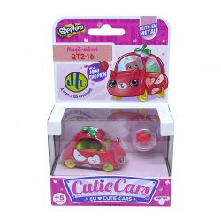 Shopkins Cutie Cars 1 Carro Maçã Móvel 1 Mini Shopkin Dtc